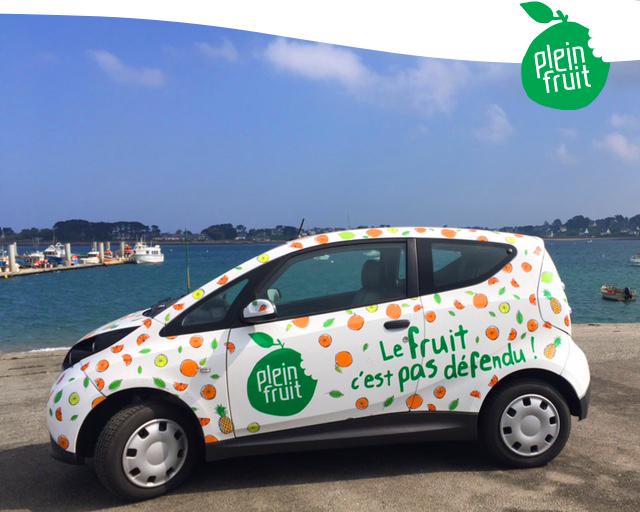 Notre voiture électrique Plein Fruit!