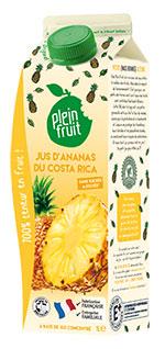 Plein Fruit jus d'ananas du Costa Rica 100% fruit
