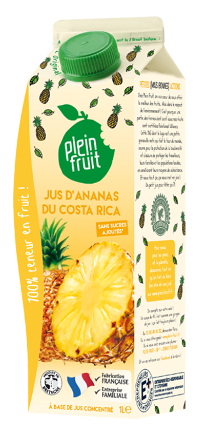 Jus d'ananas du Costa Rica