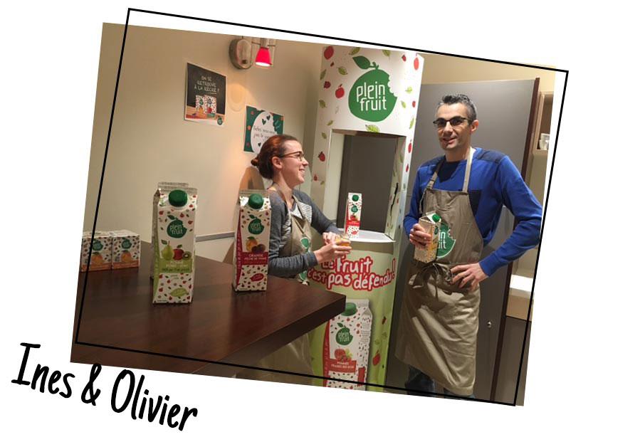 Inès & Olivier, c'est à eux qu'on doit les bonnes recettes des jus Plein fruit