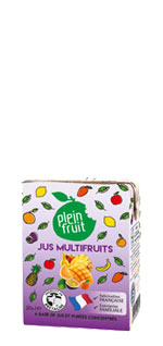 Jus multifruits en brique
