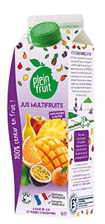 Plein Fruit jus multifruits, 100% fruits