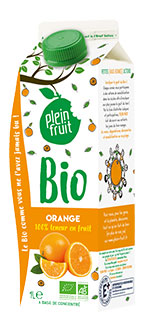 Plein Fruit jus d'orange bio, 100% fruit pressé