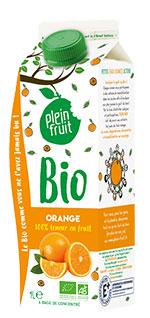 Plein Fruit jus d'orange bio, 100% fruit pressé