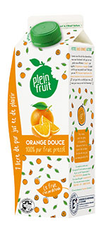 Jus d'orange douce pur fruit pressé
