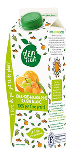 Plein Fruit jus orange mandarine raisin blanc 100% fruit pressé