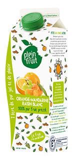 Plein Fruit jus orange mandarine raisin blanc 100% fruit pressé