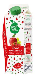 Jus de pomme et de fraises de bois, 100% fruits pressés