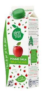 Plein Fruit jus de pomme Gala, fruit pressé