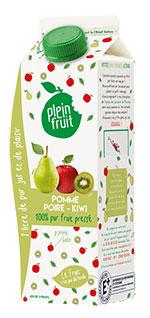 Jus de pomme, poire, kiwi, 100% fruit pressé
