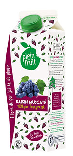 Plein Fruit jus de raisin muscaté 100% fruit pressé