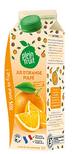 Plein Fruit jus d'orange pulpé, 100% fruit