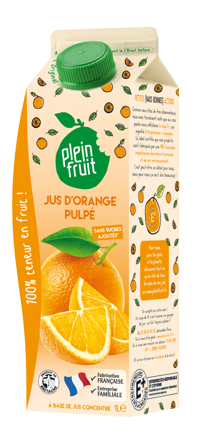 Jus d'orange pulpé