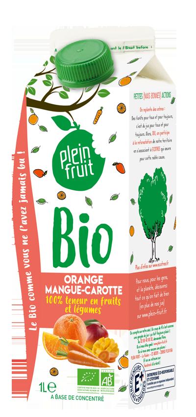 Jus d'orange, mangue & carotte BIO