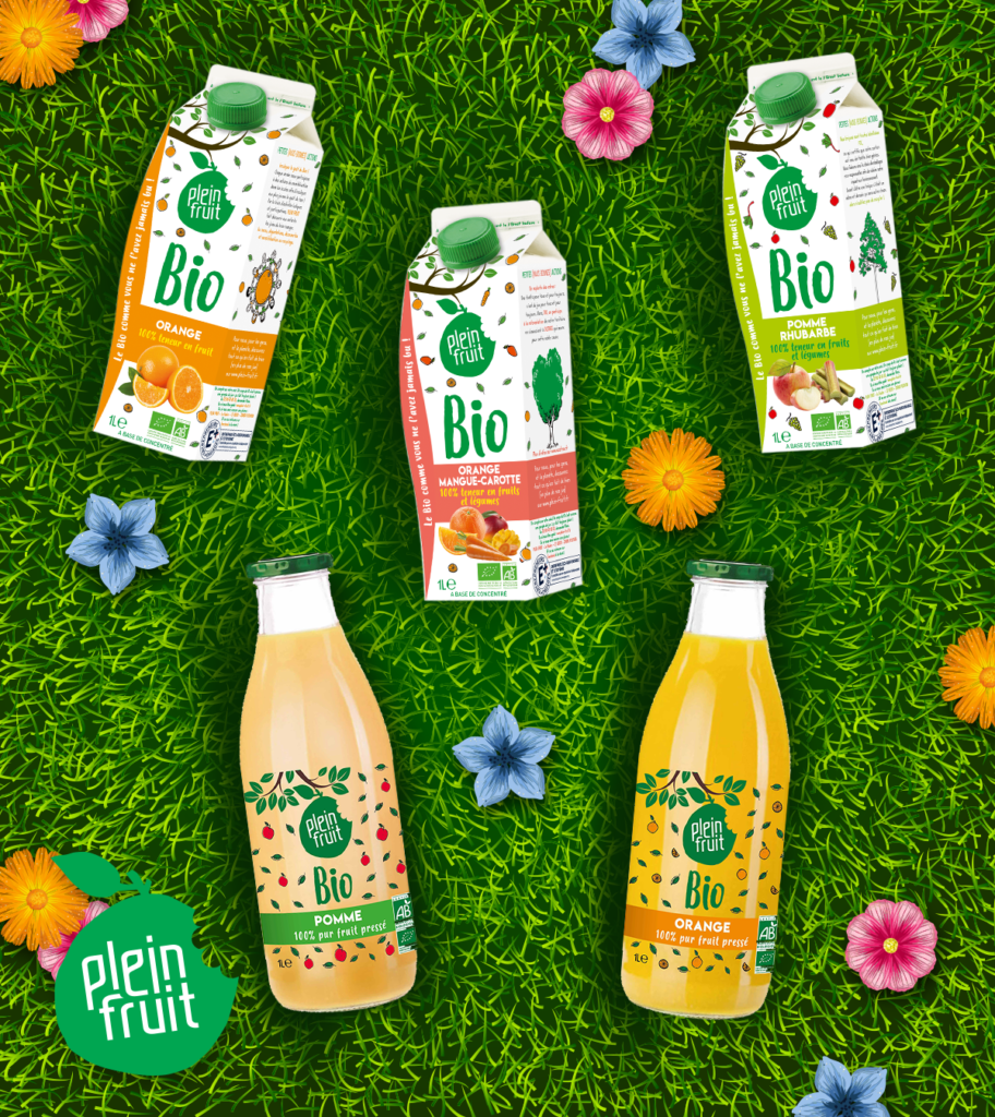 Plein fruit, des jus de fruit bio